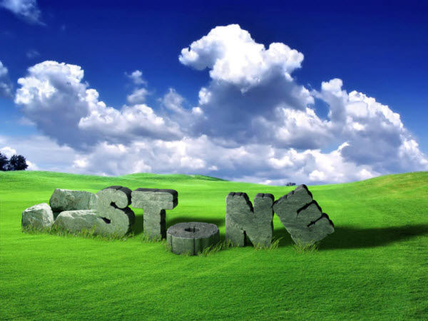 cracked 3d stone text effect