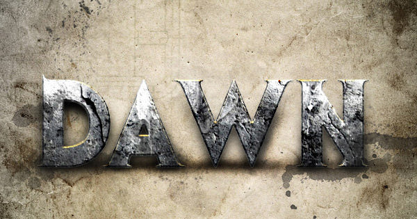 dawn of war text effect