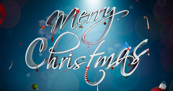 festive ornamental text effect