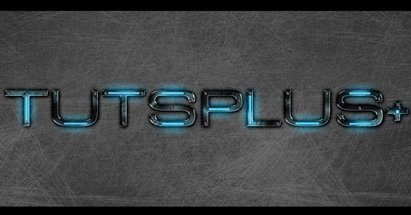 grungy metal text effect