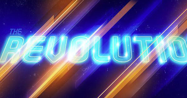 revolution artwork text effect