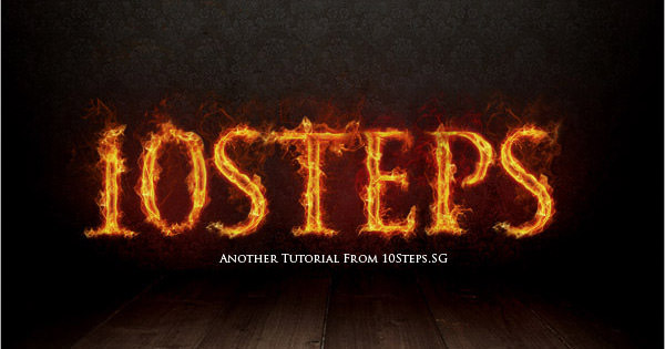 text on fire effect