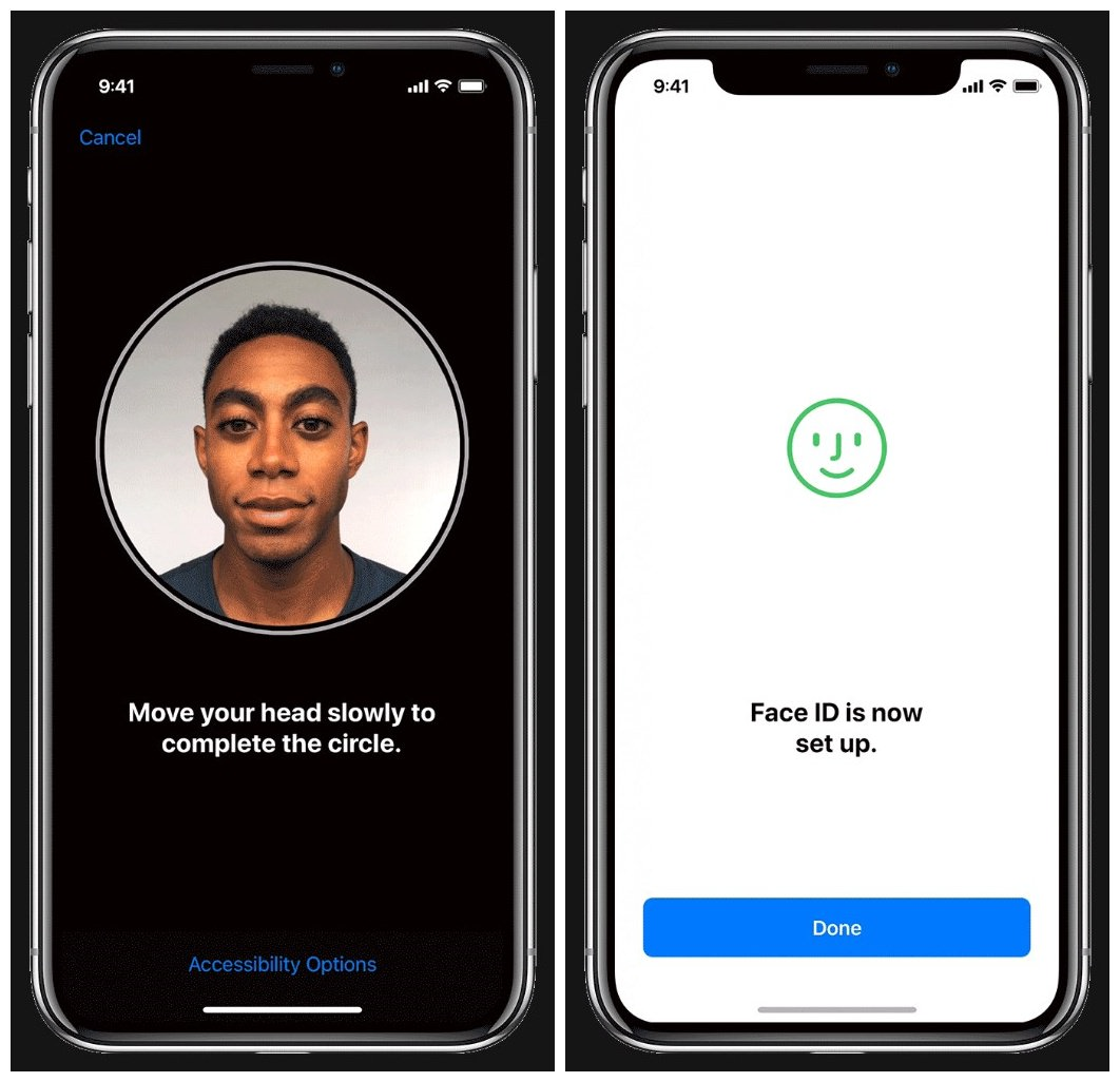 Set up Face ID on an iOS device
