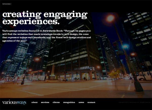 large background website designs