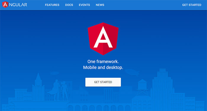 Angular 2 Website Home Page
