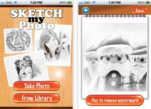 SketchMyPhoto Mobile for iPhone