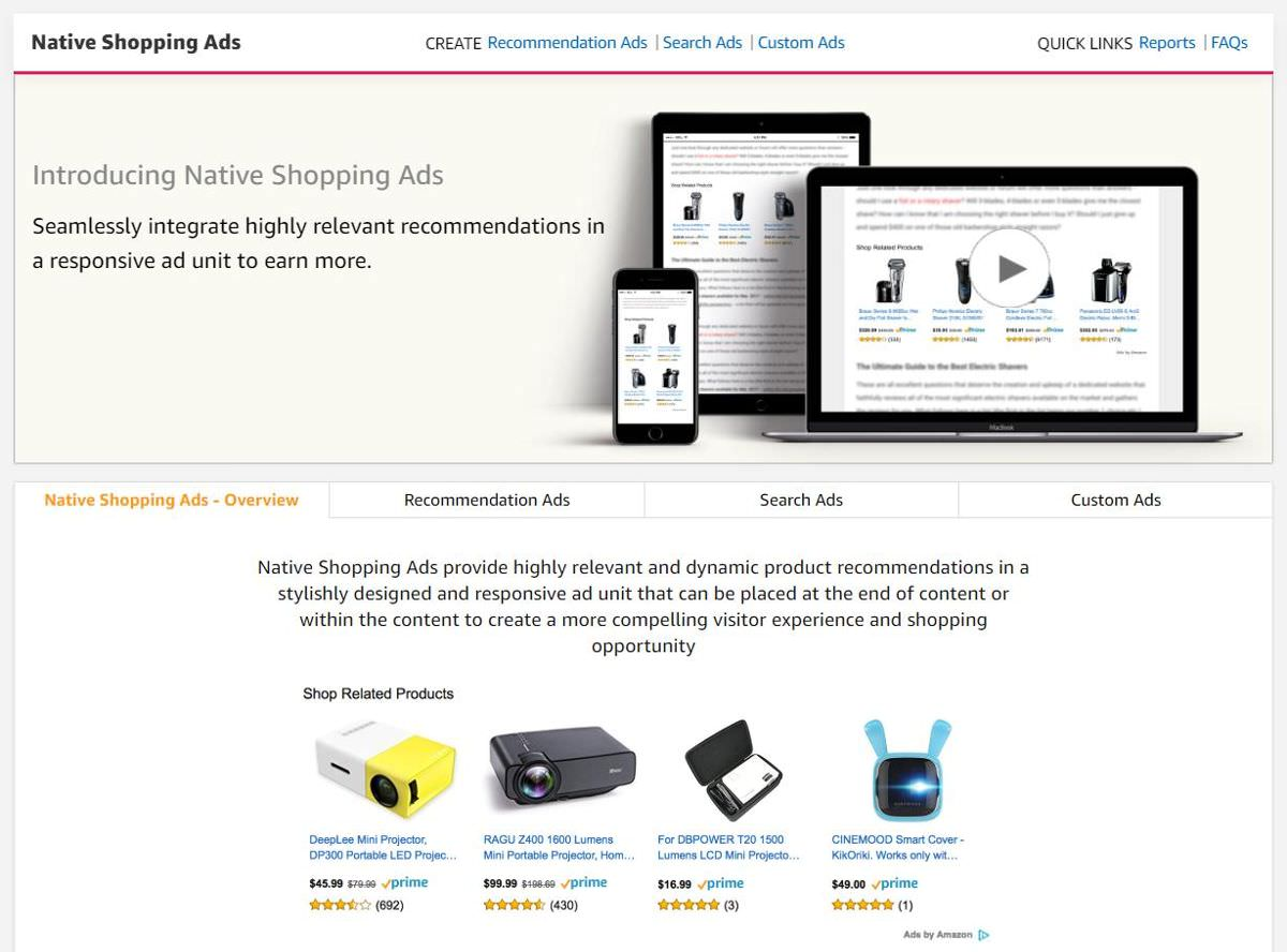 Amazon Native Shopping Ads
