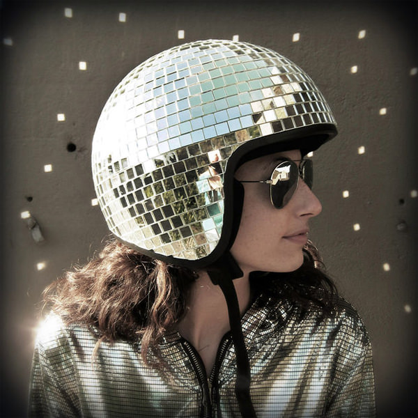 Disco Ball Bike Helmet