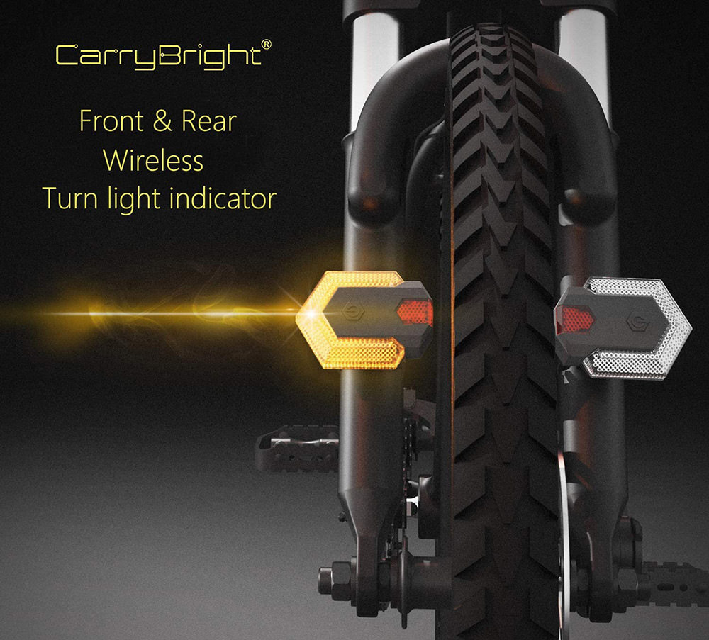 Bike Tail Light with Wireless Turn Signals