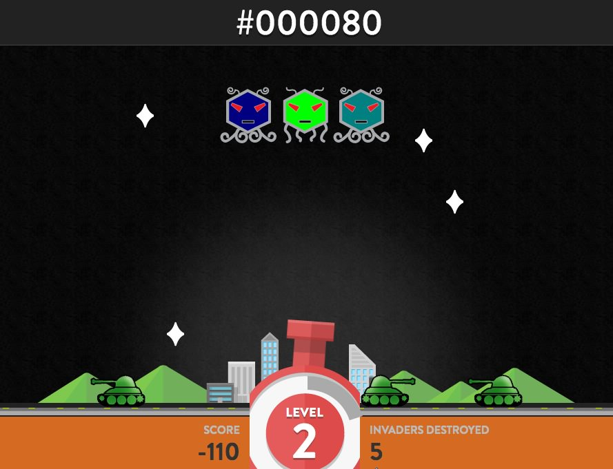 15 fun games for the bored designer hongkiat hex invaders sciox Choice Image