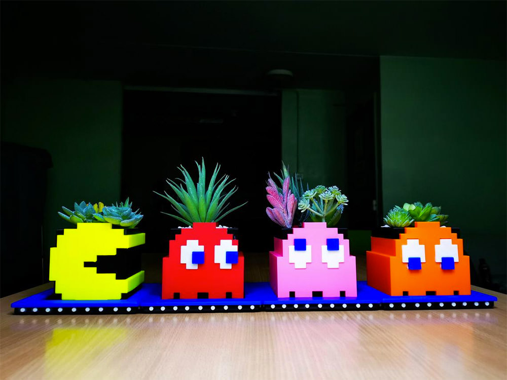 Pac-Man Planter Set