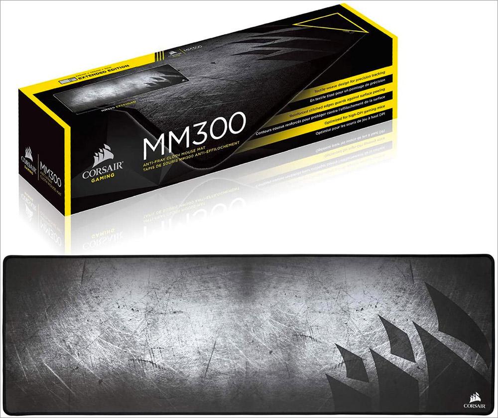 Corsair MM300 Anti-Fray Cloth Gaming Mouse Pad