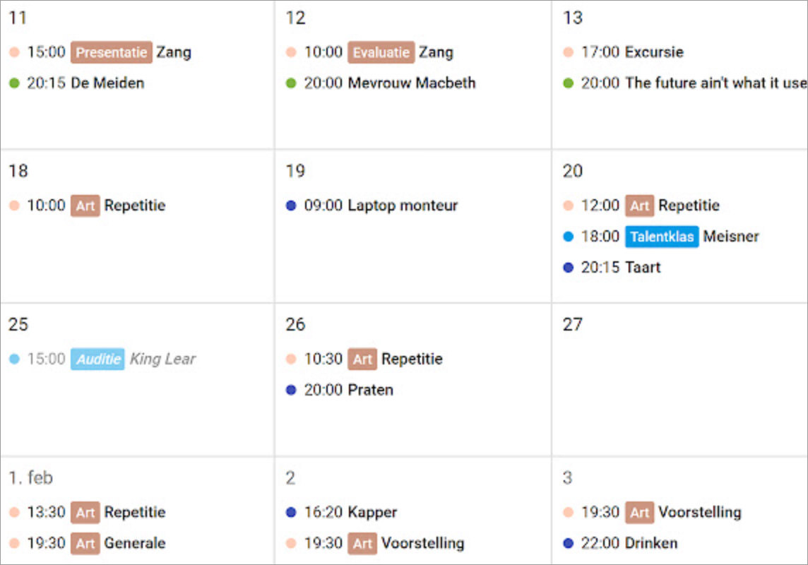 Google Calendar Tags