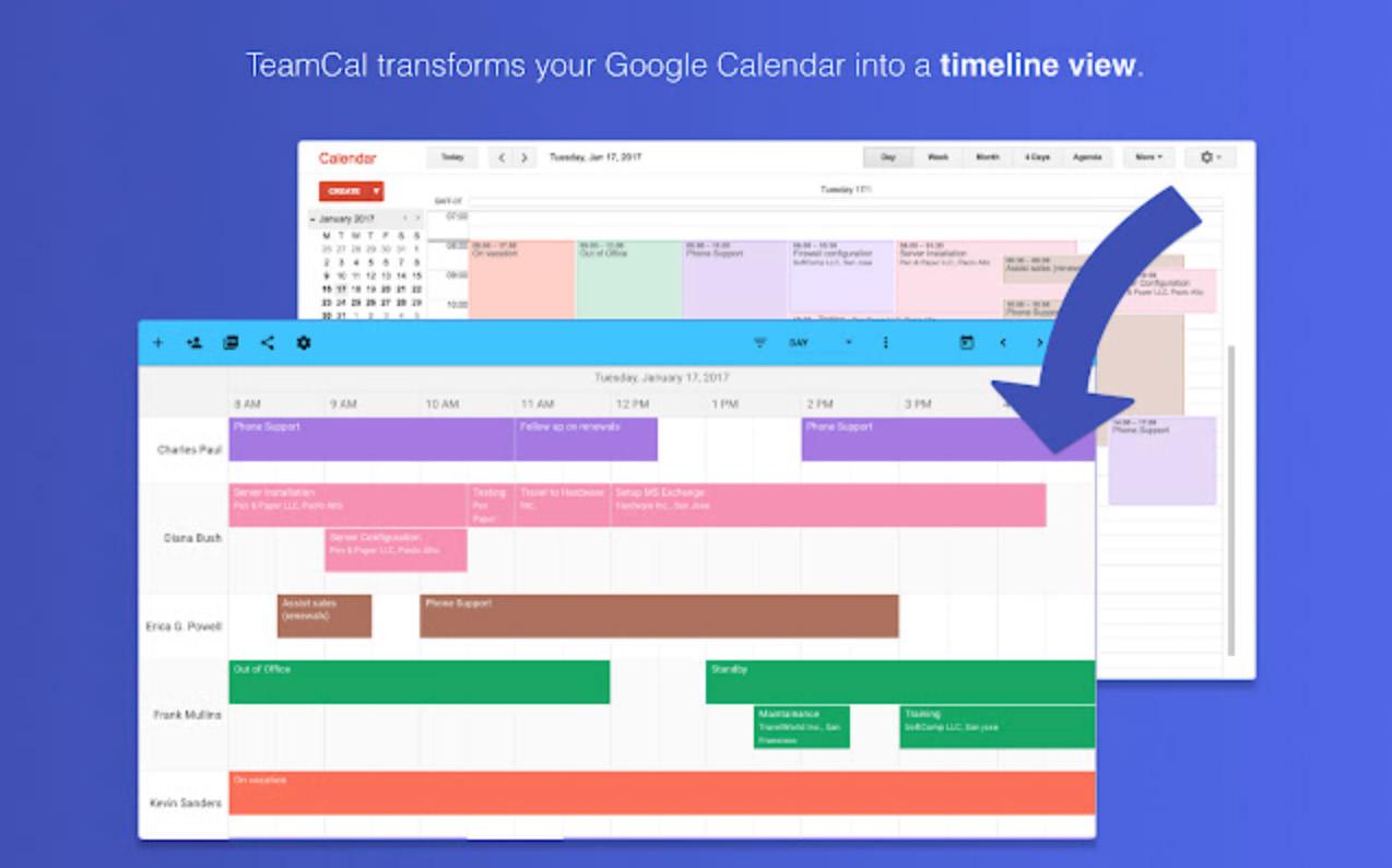 TeamCal for Google Calendar