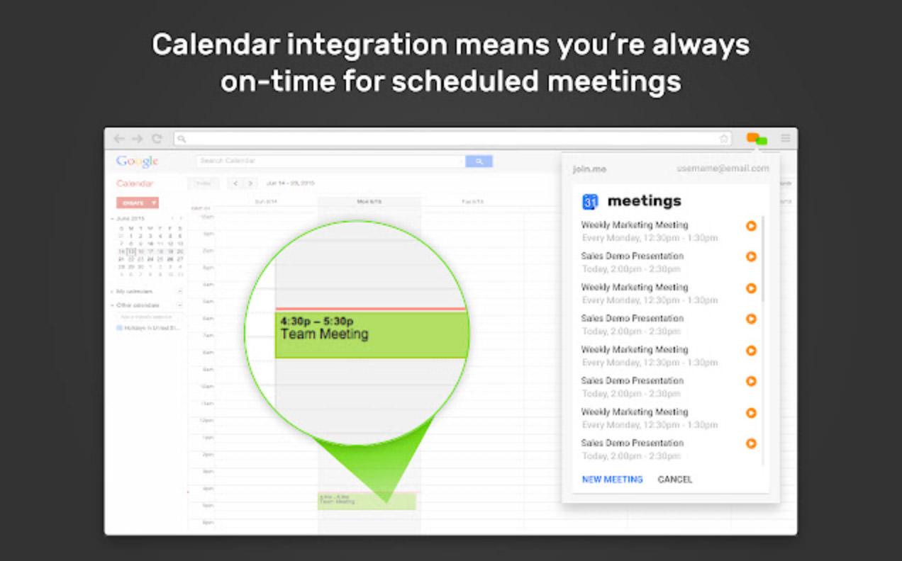 join.me for Google Calendar