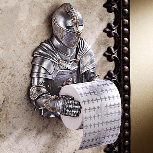 gothic knight bath tissue holder