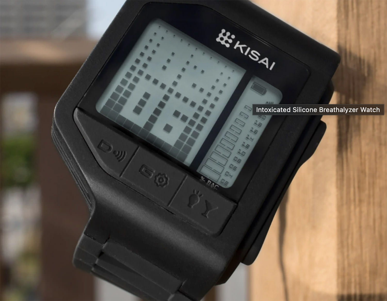 Intoxicated Silicone Breathalyzer Watch