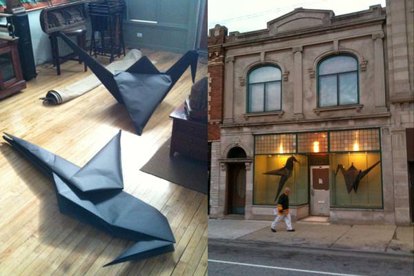 giant origami art