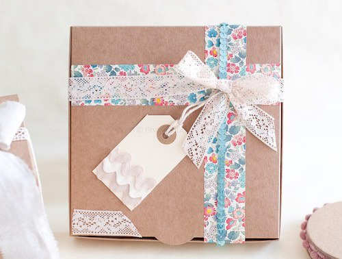 Vintage Fabric Ribbons Gift Wrap