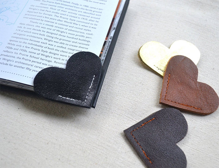 Leather Heart Bookmark