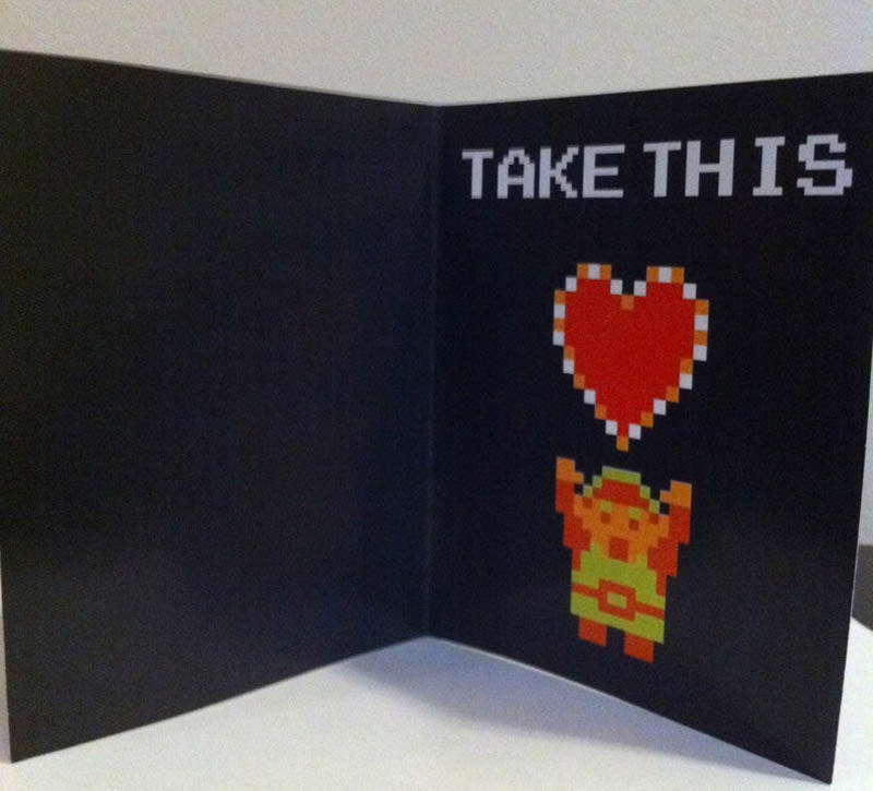 Video Game-themed Romantic Cards