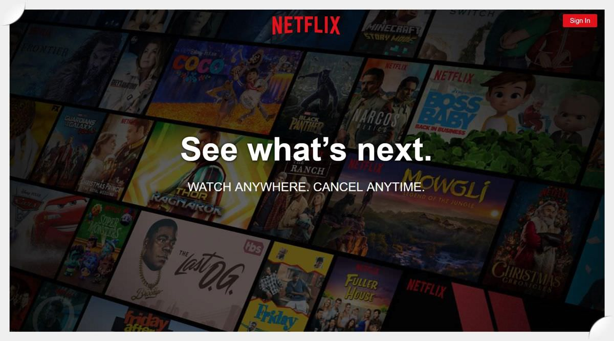 Netflix is the online video streaming giant