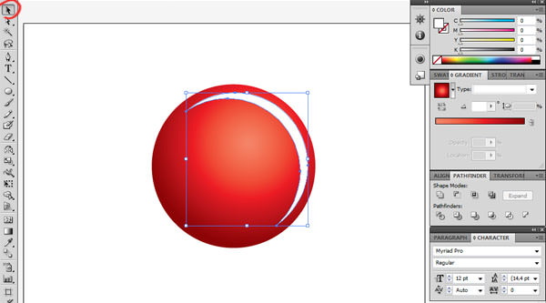 christmas bauble in illustrator