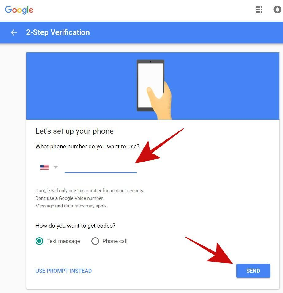 Use phone number as the 2-Step Verification