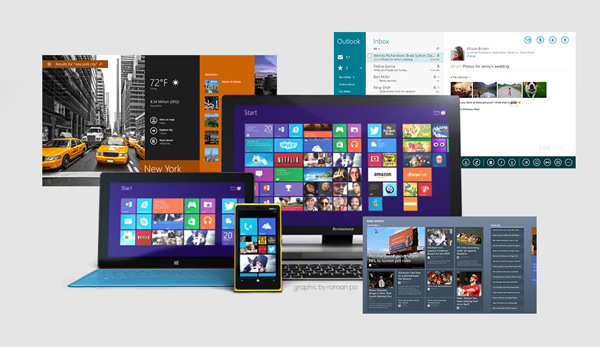 A Look at Microsoft, Google and Apple's Approach to Flat Design