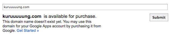 domain not registered