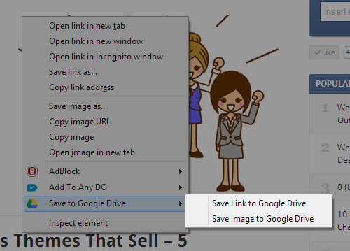 Google Drive Chrome Extension