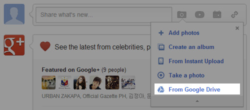 Google Drive Google+