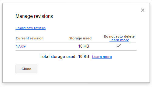 Manage Revisions