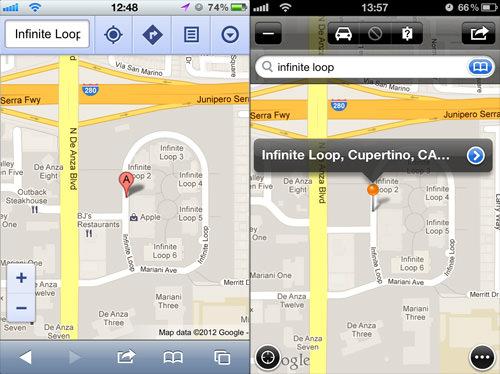 Maps Plus and Google Maps Comparison