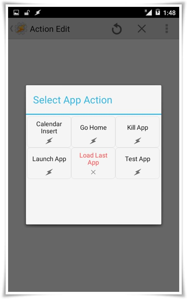 app action