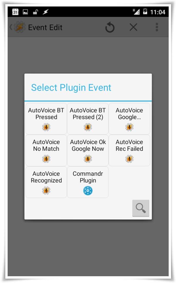 select plugin event