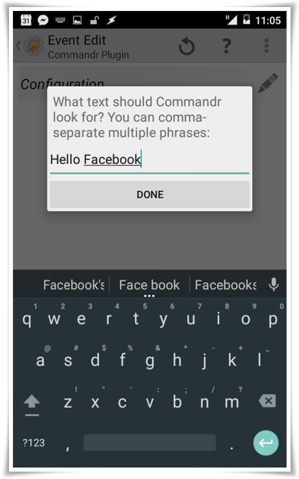 set commandr event