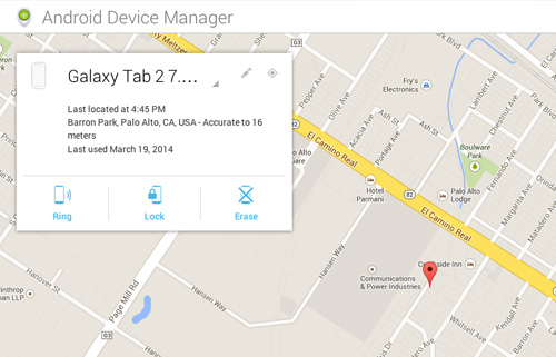 Ring, Lock & Erase Your Device With Android Device Manager