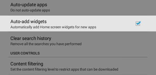 Auto Add Widgets For New Apps