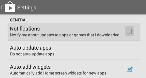 Disable Updates Notifications
