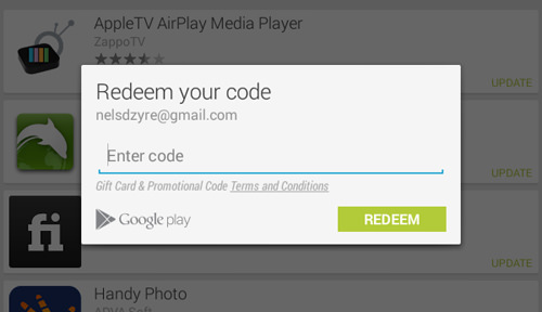 Redeem Your Gift Card & Promotional Code