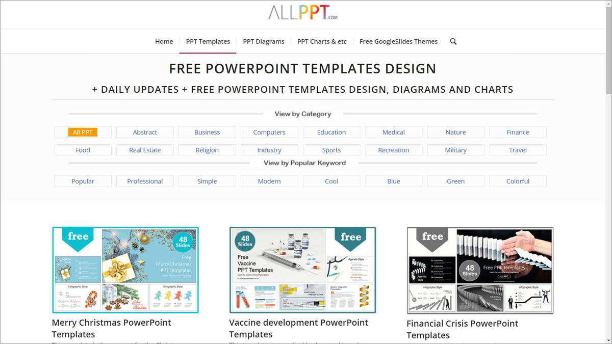 AllPPT.com offers themes for Google Slides and PowerPoint