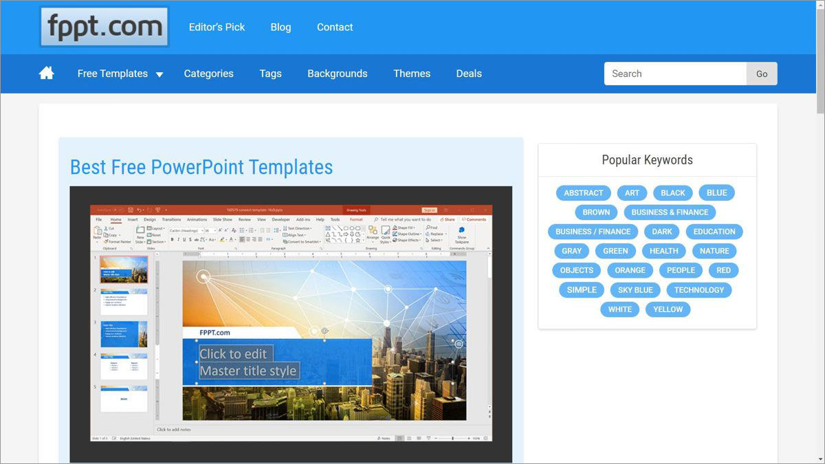 FPPT.com offers free PowerPoint templates
