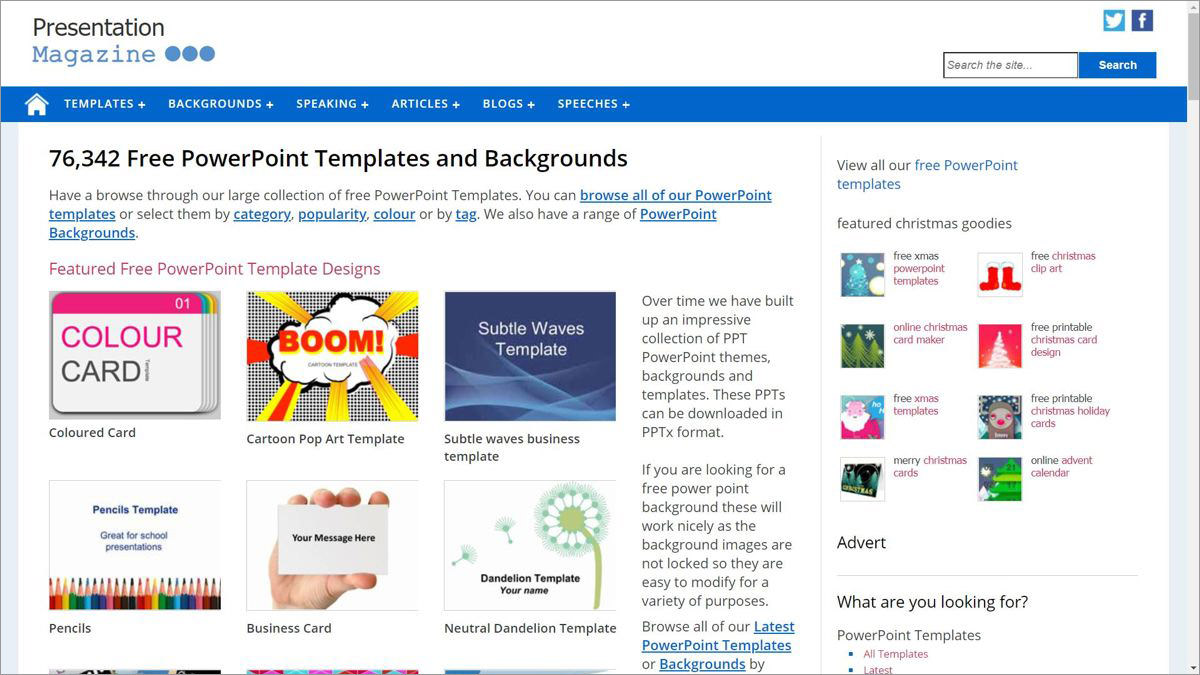 Presentation Magazine - download templates for PowerPoint