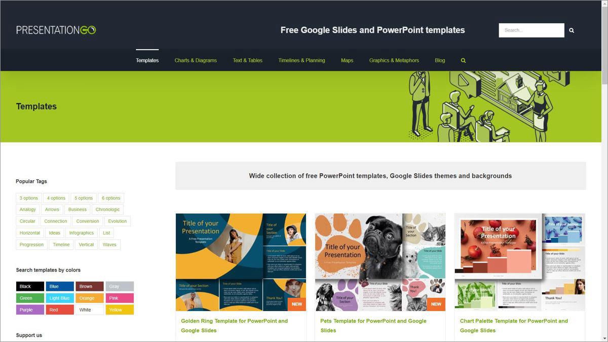 PresentationGO offers Google Slides and PowerPoint templates