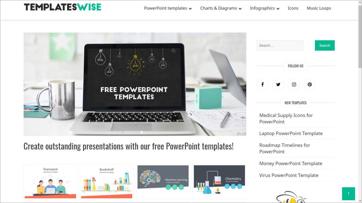 Templateswise.com offers freebies for PowerPoint