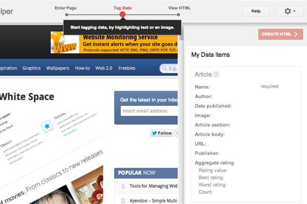 google structured markup helper webapp tool schema