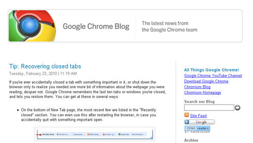 Google Chrome OS blog