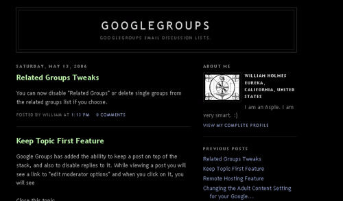 Google groups blog