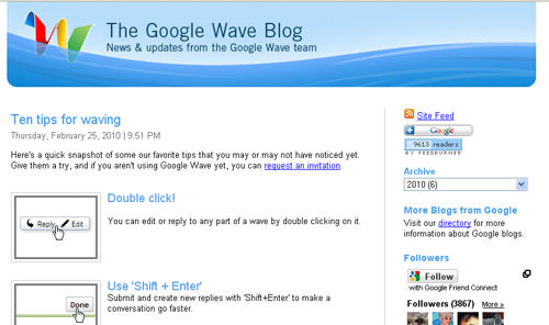 Google wave blog